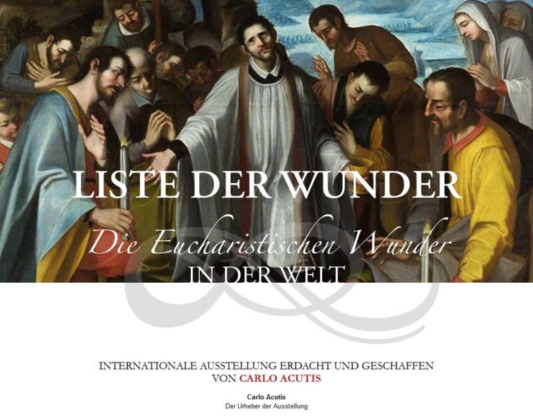Carlos Webseiten - Eucharistische Wunder
